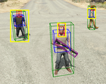 Using virtual worlds to train an object detector for personal protection equipment